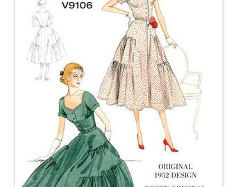 By Vogue V9106 retro vintage sewing pattern