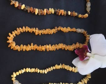 Baltic Raw Amber Teething Necklace