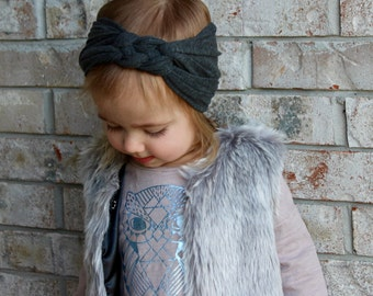 Knotted Turban// baby head wrap// Sailor knot headband// Celtic knot headband//Braided headband// Mom and me headbands