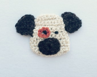 Crochet Dog Applique | Dog Embellishment | Dog Motif