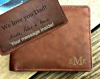 Valentines Day gift • Men's personalized Wallet • Valentines Gift • Leather Wallet • Personalized Wallet • Men's wallet • Toffee  7751*