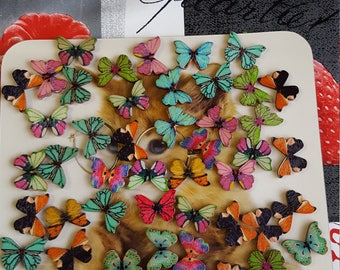 buttons Butterfly patterns