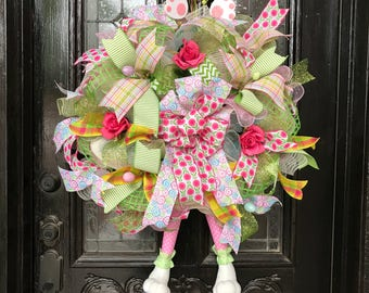 Very Whimsical Spring or Easter Wreath.