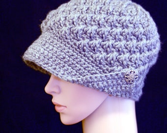 Silver Button Brim Hat