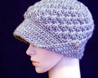 Silver Button Brim Hat