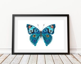 Butterfly wall art • Butterfly drawing • Butterfly decor • Butterfly print • Butterfly art • Butterfly printable • Watercolor Poster