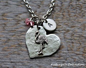 Flamingo Necklace, Flamingo Jewelry, Pink Flamingo, Sea Bird, Bird Necklace, Flamingo Gift