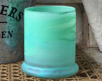 Spearmint + Citrus/ 9 oz/Vegan/Soy/Candle/Hand Painted/well being/Mom/Mother's Day/health/Under 10