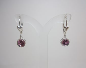 Color Change Cranberry Zandrite Earrings - Cranberry to Purple