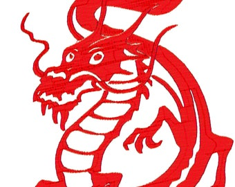 30 6x10 Chinese Dragons Machine Embroidery Designs. zip file downloads.