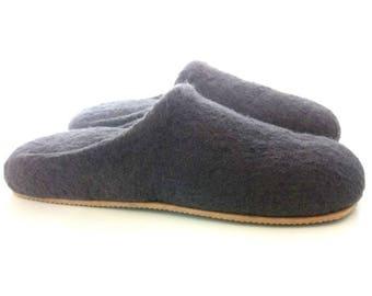 Gray women wool slippers  Very soft slippers Women's Shoes Slippers  Women wool slippers Women house shoes  Felted slippers Softest slippers