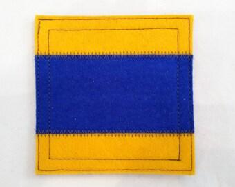 Wool felt coaster nautical signal flag D
