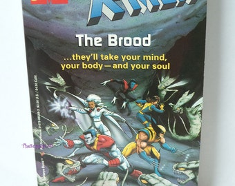 Vintage Marvel Comics X-Men The Brood - A Bullseye Book by Random House 1982 - Collectible Gift