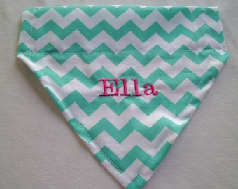 Dog Bandana, personalized, chevron, Dog Gift, Birthday present, New puppy,  Monogram,  Embroidery, Photo shoot, Dog Lovers Gift, fur baby