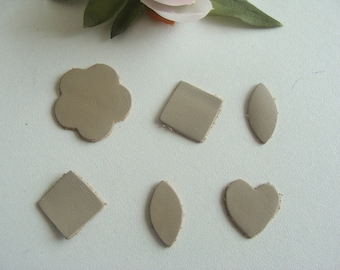 applique patterns matching beige leather
