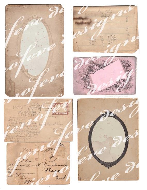 Build ~A~ Bellishment Set#2 Vintage Ephemera