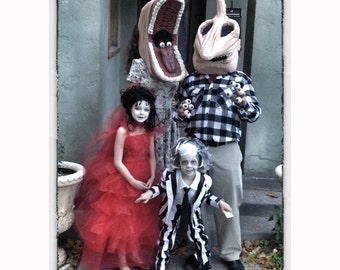 Beetlejuice family costume  sc 1 st  Etsy : beetlejuice mens costume  - Germanpascual.Com