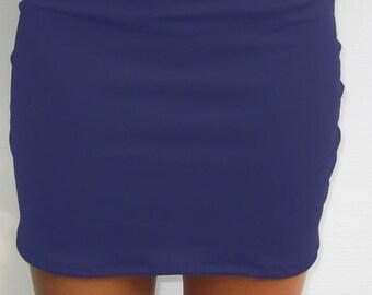 Blue Bodycon Pencil Skirt - Navy Blue - Pencil Skirt - Bodycon