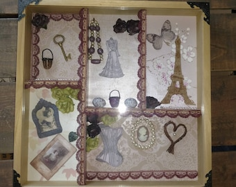 Shadow Box - Mixed Media - French Paris Style