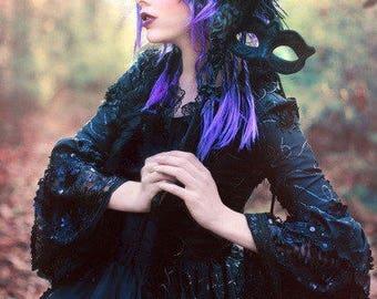 Black Dahlia Fantasy Gothic Sparkle Antoinette Style Wedding Gown Size XXLarge