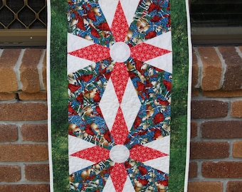 Handmade Quilted Patchwork table runner - Christmas