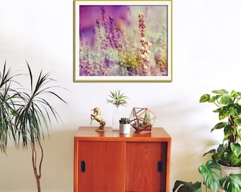 Modern Wall Art, Purple Wall Art, Nature Print, Heather Photography, Bedroom Wall Art, Purple Wall Decor, Large Print, Bedroom Wall Decor,