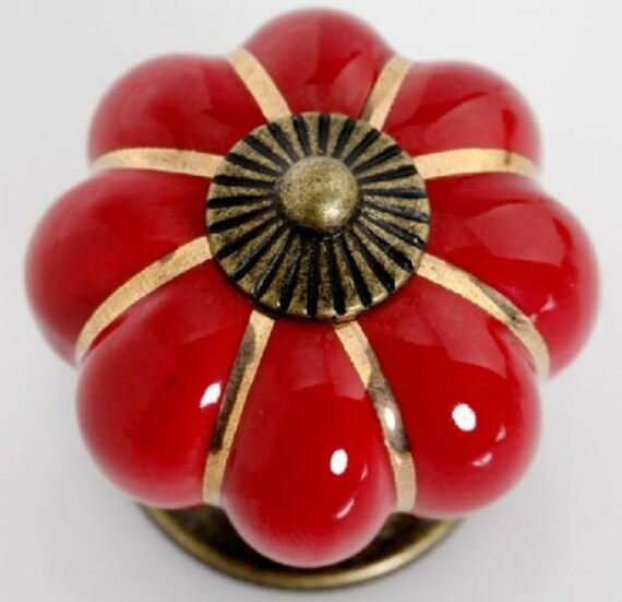 red kitchen cabinet knobs pulls handles ceramic dresser knob rh etsy com