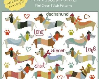Dachshunds Cross Stitch PDF chart