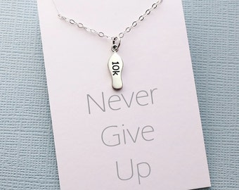 Inspirational Running Gift | Running, Fitness Jewelry, Workout Necklace, Marathon Gift for Women, Best Friend Gift for Her, Gifts for Mom |7
