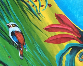 Tropical Bird Nature Painting