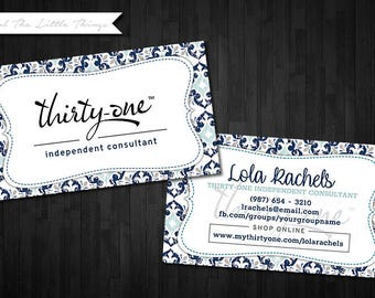 NEW Spring Patterns | Customized Business Card for Thirty One | Digital Download Print Yourself