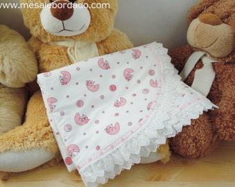 Receiving Blanket, baby blanket, baby warmer, new born blanket, baby shower party, baby shower gift, it's a girl, baby girl blanket