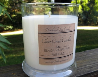 Black Raspberry Vanilla.. Hand Poured.. Soy Candle ...12 oz  Highly fragrant and in a gift box.  Beautiful Fragrance..