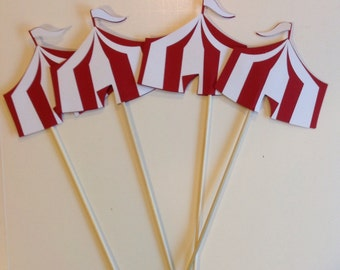 Carnival/circus tent picks set of 8