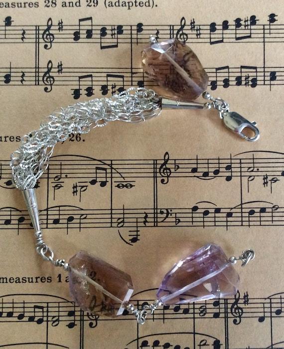 Ametrine and sterling silver bracelet!