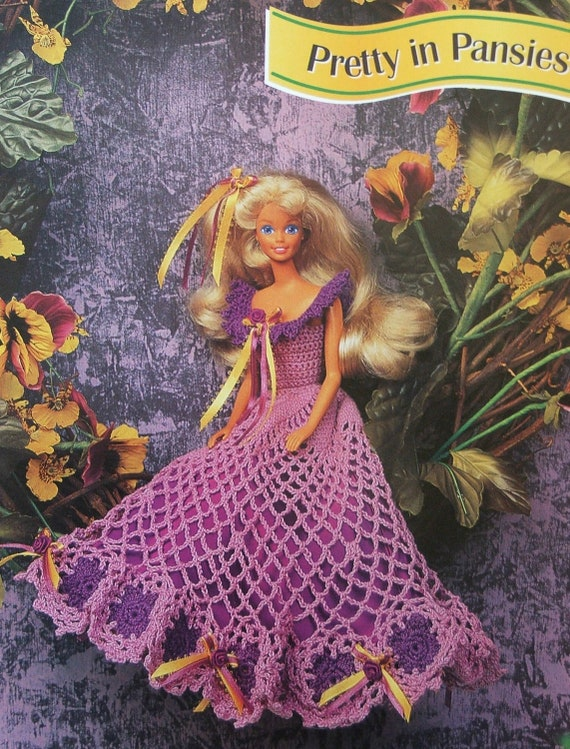 Crochet Patrón de muñeca Barbie moda elegante