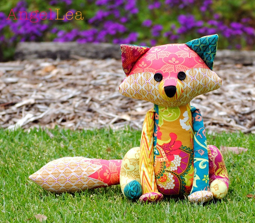 Fox Softie PDF Sewing Pattern Francie the Fox Stuffed Animal