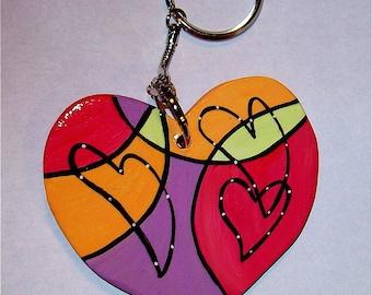 LET'S DANCE . . . Dancing Hearts Keychain
