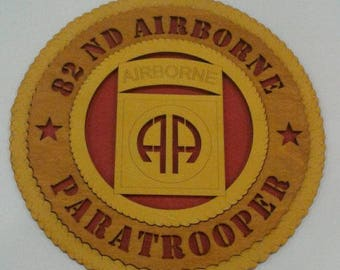 82nd Airborne Wall Plaque Wooden Model
