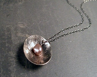 Caroline Necklace - Pearl and Sterling Silver