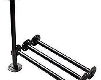 "Industrial Black Iron Pipe Table Legs , INCLUDES 4 Complete Table Legs 1"" Diameter and 6"", 7"", 8"", 9"", 10"", 12"", 18"", 24"", 30"", 36""  ""DIY"""