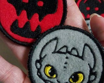 HTTAD- Toothless Sew On Patches
