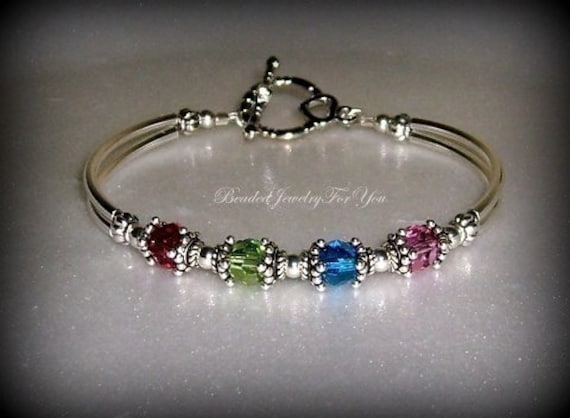 Birthstone Bracelet: Mothers Day Gift Custom Bracelets