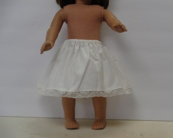 6.5 Inch-Off White Cotton 1/2 Slip for an 18 Inch Doll American Girl-Shown on my American Girl Doll