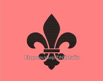 Fleur de Lis Embroidery Design - 5 Sizes - INSTANT DOWNLOAD