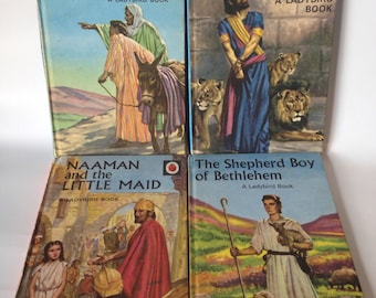 Vintage Ladybird Books: 4x books from the Bible Stories Series, all published in the 50s, Rare & Collectible
