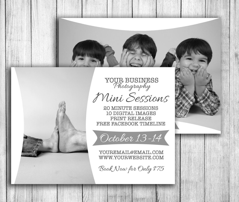 Family Mini Session, modern design for minisessionings, marketing ...