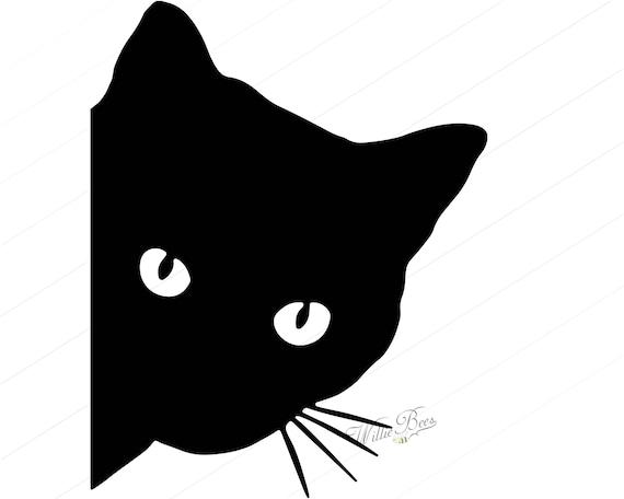 Peeking Cat SVG Feline SVG Cat SVG Peeking Cat Silhouette