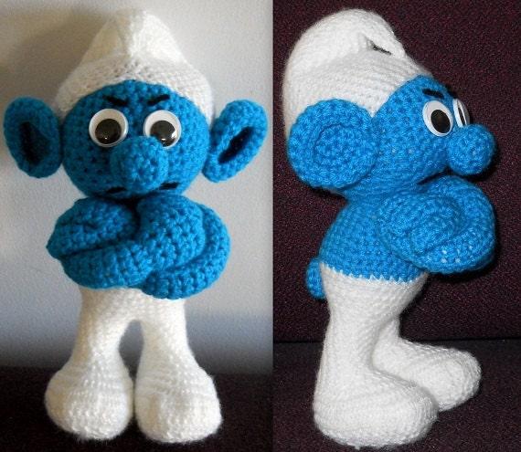 Smurf-Like Crochet Doll Pattern from RowenaZahnreiCrafts on Etsy Studio