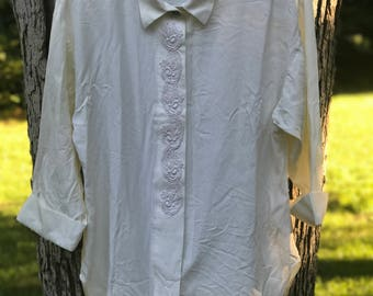 vintage cream tunic